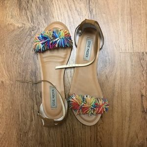 Steve Madden Frilly Multicolored Sandals